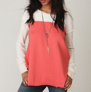Free People We the Free Long Sleeve Mixed Tunic